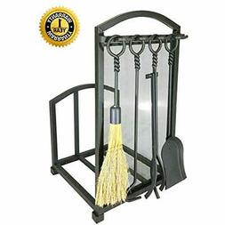 Fireplace Log Holder Tools, Wrought Iron Indoor Stove Access
