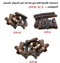Fireplace, stoves, gas firepit Wood-like Ceramic decorative