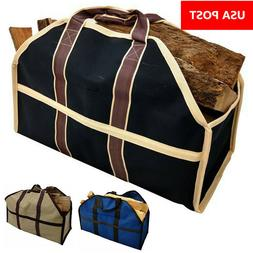 Firewood Carrier Log Tote Bag Holder Fireplace Accessories B