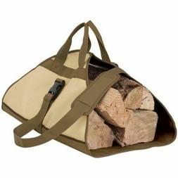 FIREWOOD LOG CARRIER Fire Wood Tote Canvas Carrying Bag Hold