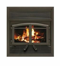 Flame Monaco EPA ZC Fireplace with Black Louver Kit