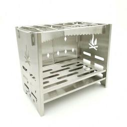 Folding BBQ Wood Burning Stove Stainless Steel Camping Backp