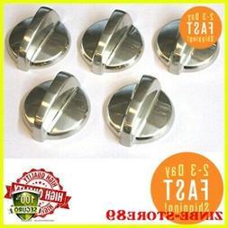 gas ran control knob 5pc steel cooktop