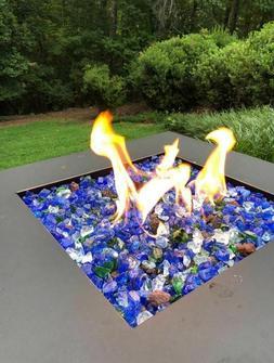 Glass For Fire Pits 10 lb Fireplace Patio Propane Gas Rocks