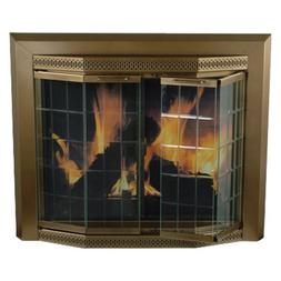 Pleasant Hearth Grandior Bay Fireplace Screen and Bi-Fold Tr