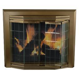 Pleasant Hearth Grandior Bay Fireplace Screen and Bi-Fold Tr