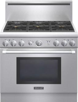 Thermador Pro Harmony : PRG366GH 36 Pro-Style Gas Range with