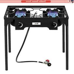 Heavy Duty Steel Propane Gas Double 2 Burner Outdoor Camping