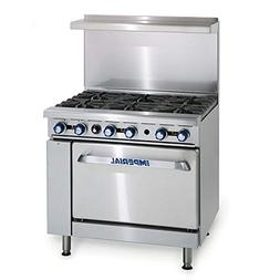 "Imperial IR-6-E 36"" 6-Sealed Element Electric Range, 208v/1p"