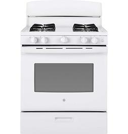GE JGBS30DEKWW 30 Inch Freestanding Gas Range with 4 Sealed