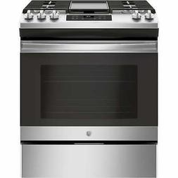 GE JGSS66SELSS 30 Inch Slide-in Gas Range with Sealed Burner