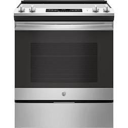GE JS645SLSS 30 Inch Slide-in Electric Range with Smoothtop