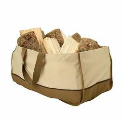 Jumbo Fireplace Firewood Fire Wood Log Canvas Caddy Tote Car