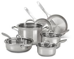 KitchenAid KCCS10ST Copper Core 10-Piece Set Cookware - Stai