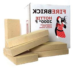 Fire Brick Kit of 6 replacements for stoves, fire pits and p