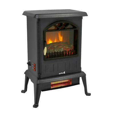 1500W Portable Space Heater Log Stove Standing