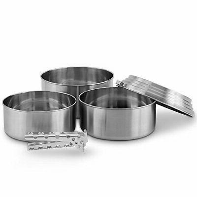 3 pot set cooking system