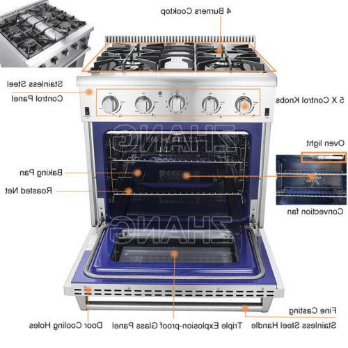 Thor Rangetop Oven HRG3080U 4-Burner Stove Cooker Stainless