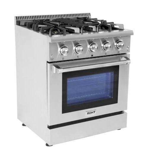 "Thor Kitchen30""Gas HRG3080U Stove Stainless"
