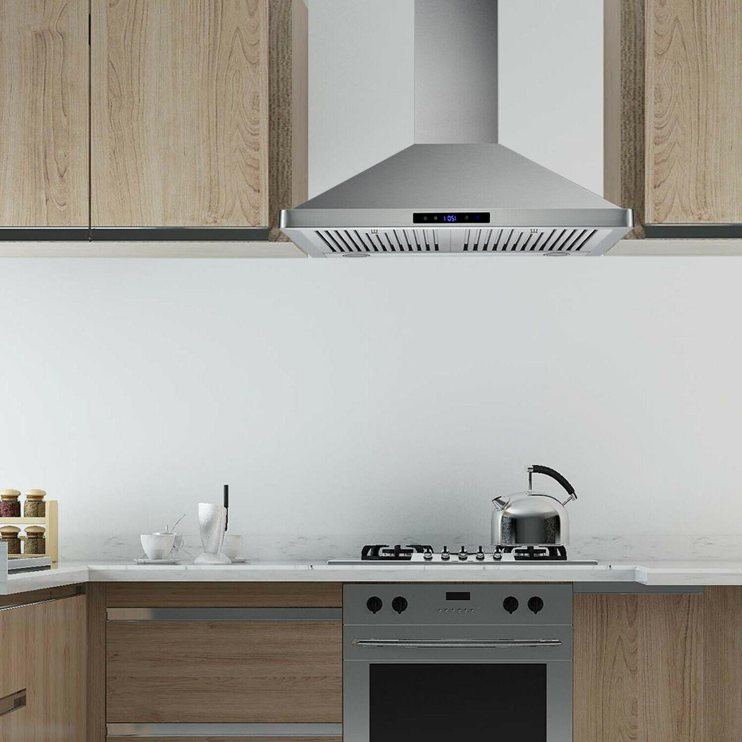 30 inch Wall Mount Range Stainless Steel Cook Vent