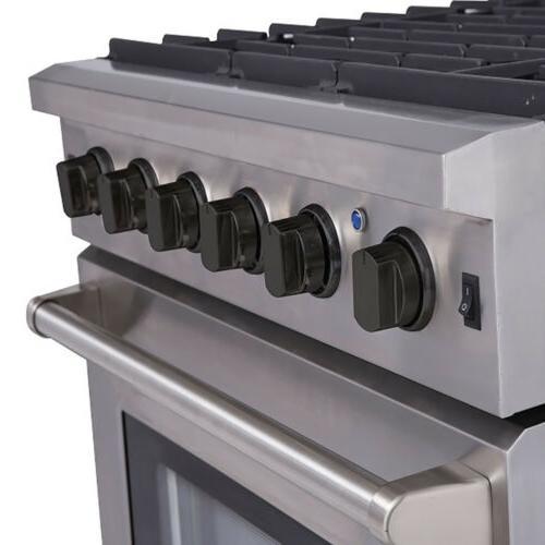 "Thor Kitchen Stove Steel 30"" Gas Burner"