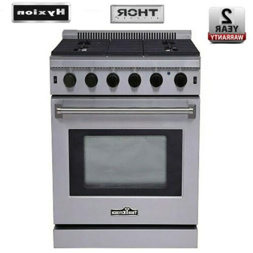 30 stainless steel gas range oven