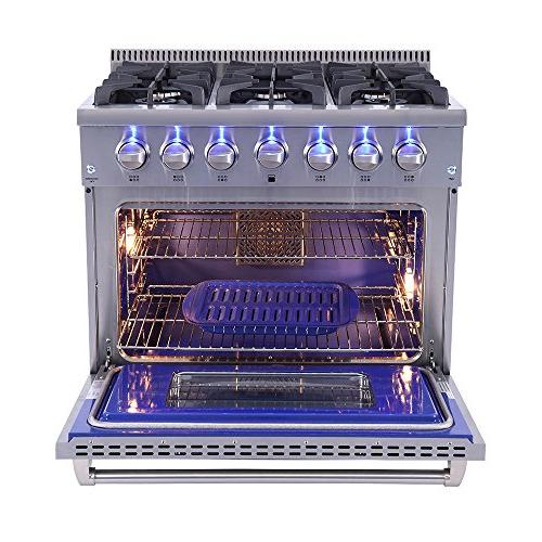 "36"" Pro-style Gas Range + Conversion Kit"
