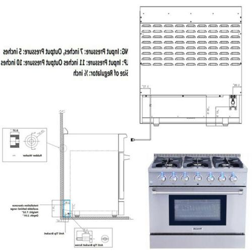 Thor kitchen Cooktop Steel 6 HRG3618U