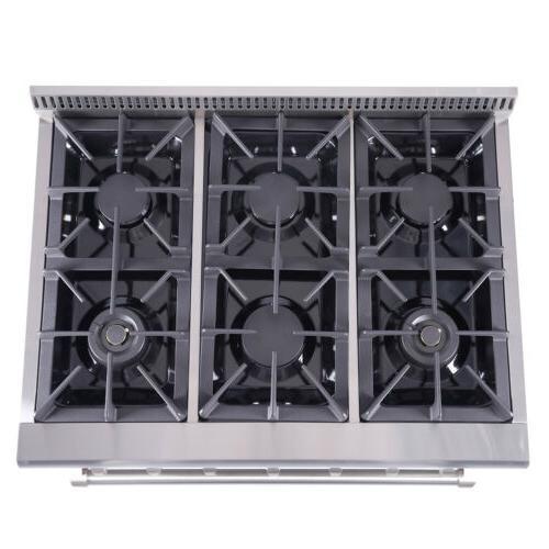36 inch Thor Kitchen Professional Range Stove Oven 6 HRG3618U