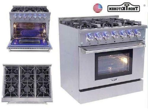 36 inch itchen professional gas range stove