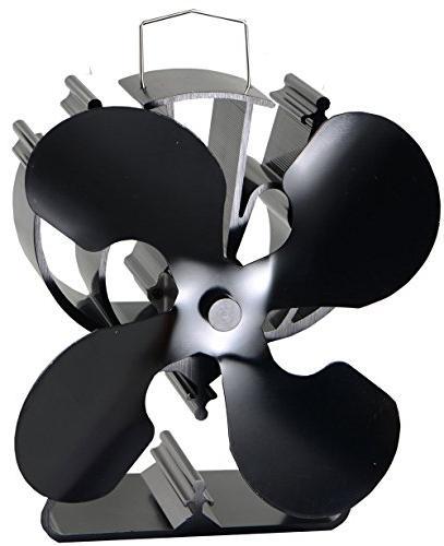 4 blade heat powered stove