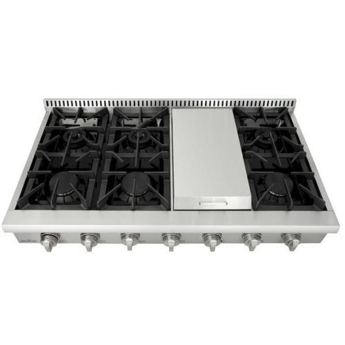 Thor 48''Range griddle steel burner