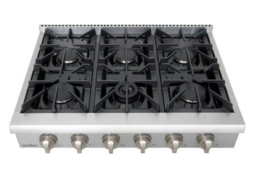 Thor Kitchen Burner Range stove 36 Rangetop Stainless Steel