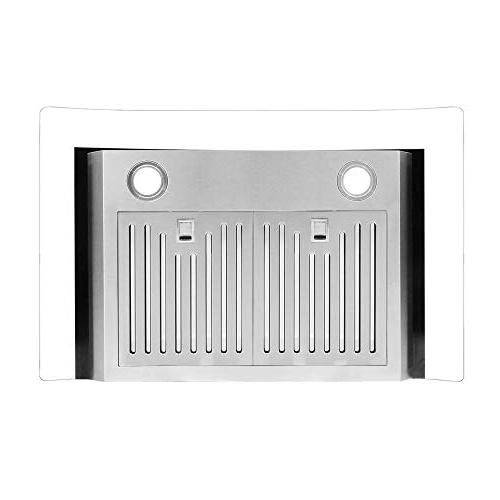 Cosmo 30-in Wall-Mount Range Hood / Ductless , Wireless Stove Vent Light , , Timer, Filter