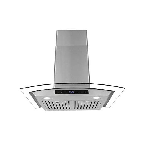 Cosmo 668AS750 Range Hood / , Wireless Glass Kitchen Stove Vent with Light , 3 ,