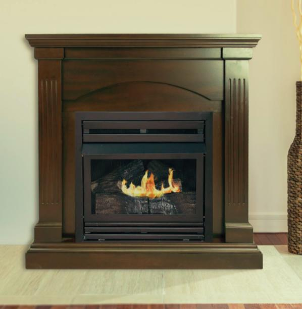 Pleasant Hearth Convertible Vent-Free Dual Fuel Fireplace, 3
