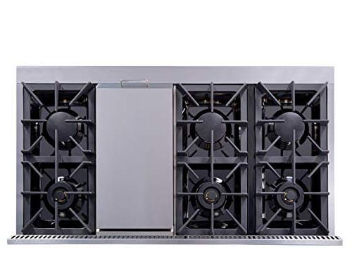 Thor Kitchen Gas Range with 6 Double Ovens, - HRG4808U-1