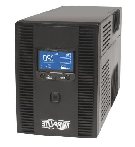 Tripp Lite 1300VA UPS Battery Back Up, AVR, LCD Display, 8 O