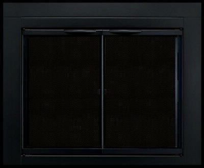 alpine cabinet fireplace glass door