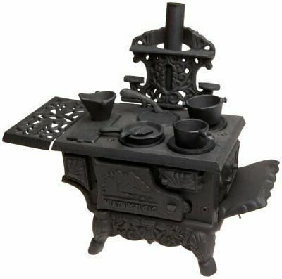black mini wood cook stove