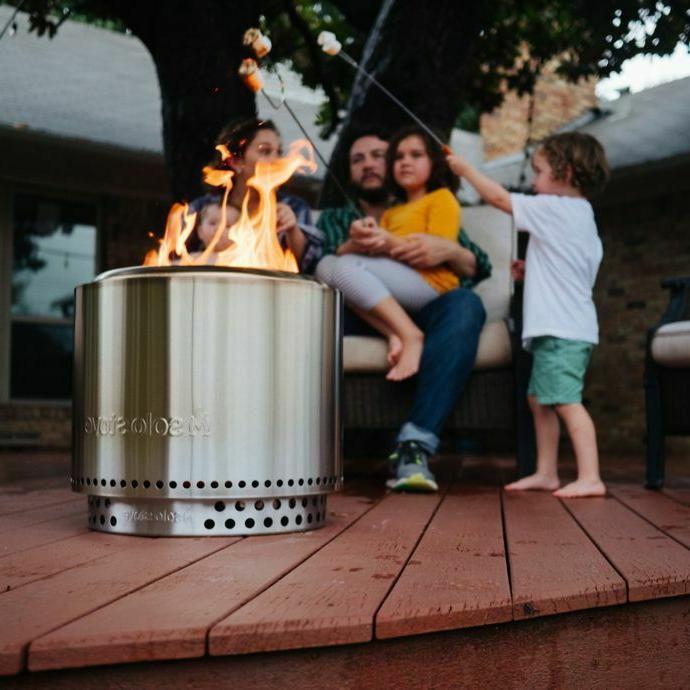 Solo Bonfire Pit Burning Patio Round NEW