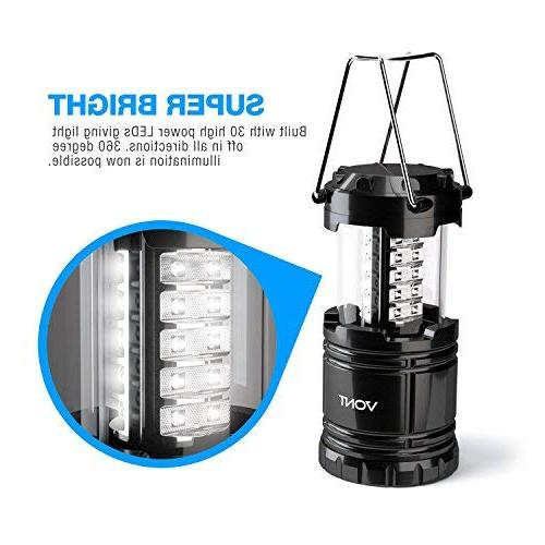 Vont Camping Lantern, Lanterns, Great Addition Outages, Portable Black, Collapsible, Includes