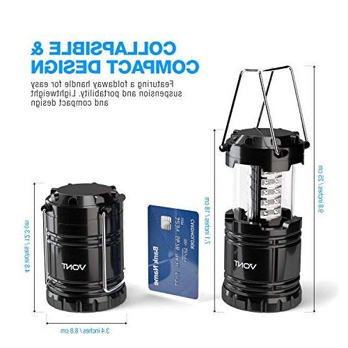 Vont Camping Great Kits Hurricane, Emergency, Storm, Outages, Black, Includes Batteries