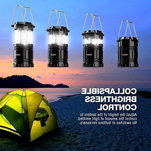 Vont 2 LED Camping Lantern, Great Survival Kits Hurricane, Outages, Portable Black, Collapsible,