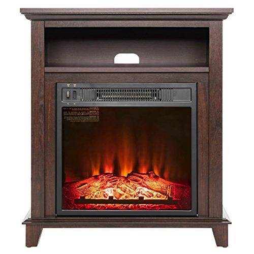 electric fireplace heater standing black
