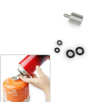 Butane Canister Gas Adapter Outdoor Stove Cylinder