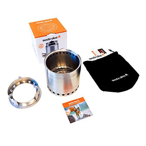 Solo Campfire - 4+ Person Burning Stove Backpacking, Burns Twigs - Batteries or Liquid Canister