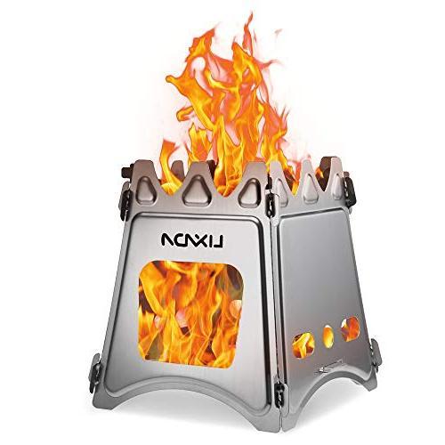 camping wood stove folding lightweight