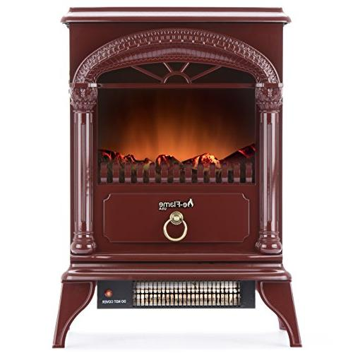 classical electric fireplace stove standing