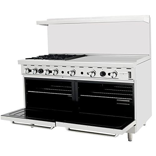 CookRite Natural Range 2 Ovens Restaurant BTU
